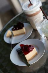 cheese cake et café glaçé