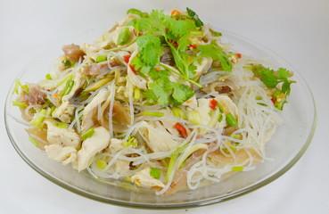 glass noodle pork spicy salad
