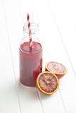 Fotoroleta fruity juice in glass