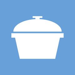 Pan white icon