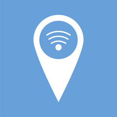 Wi-fi pointer white icon