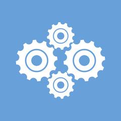 Mechanism white icon