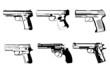 Vektor Pistolen silhouetten 1 - 80303665