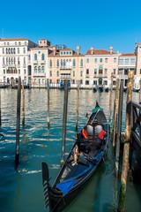 Gondolas in Canal Grande, Venice, Italy
