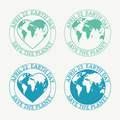 Earth Day stamp.
