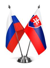 Slovakia and Russia - Miniature Flags.