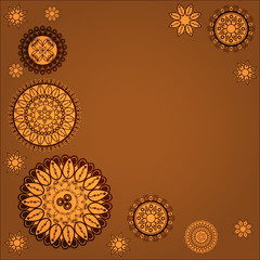 Indian background with round ornaments.
