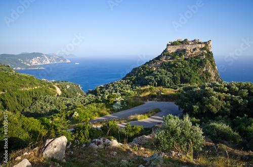 Fotobehang Vestingwerk Ruins of Angelokastro fortress - Corfu island, Greece