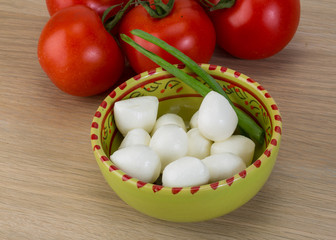 Mozzarella cheese balls