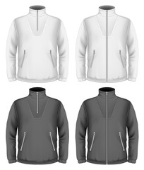 Men's fleece sweater design templates