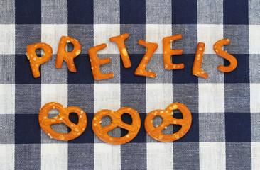 Word pretzels written with pretzel-like letters