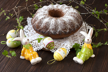 Easter cake with  decorations
