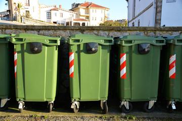 contenedores para el reciclaje de basura