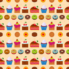 Seamless dessert background.