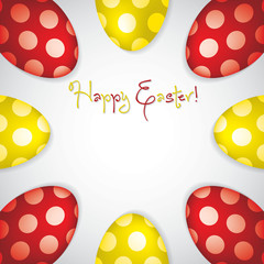 Circle of Easter eggs border in vector format.