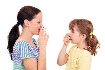 Smoking can cause asthma and diseases in children