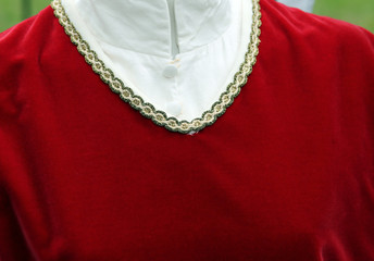 Red Jersey with golden decoration in medieval style
