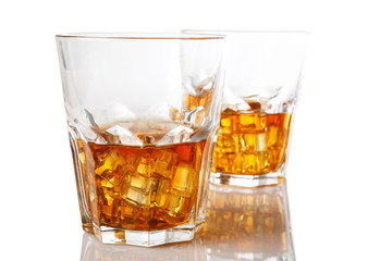 Glasses with whiskey