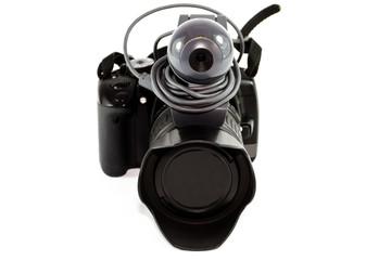 Spiegelreflexkamera mit Webkamera