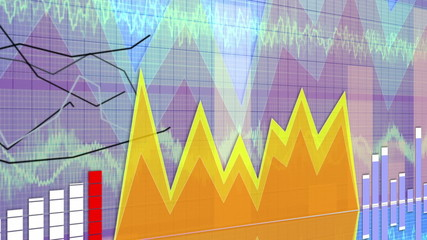 Business Concept Background, Graphs and Charts