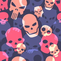 Skulls seamless pattern. Vector illustration.