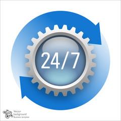 24/7 365 #Vector Graphic