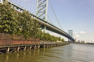 View of Benjamin Franklin Bridge, Philadelphia