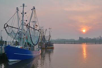 Fischereihafen von Greetsiel in Ostfriesland