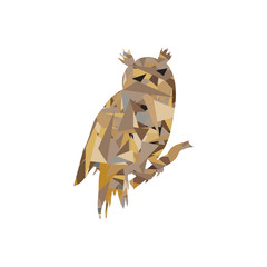 Owl low poly icon