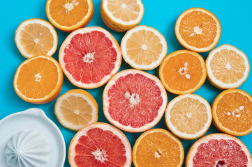 Juicy Citrus fruits on a table
