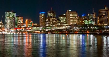 Brisbane, Australia, skyline at night