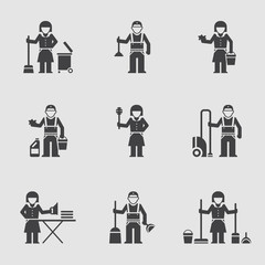 Cleaning company, vector icon, professional