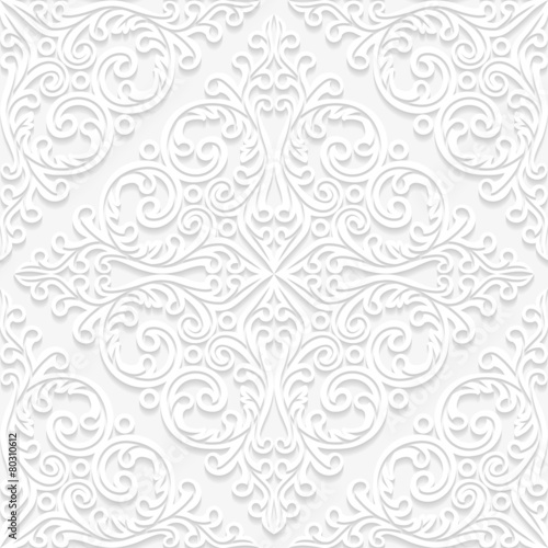 Papiers peints Artificiel Seamless floral pattern