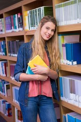 Pretty student in the library
