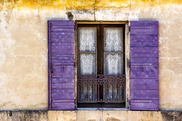 Old Window with Shuttes in the South of France