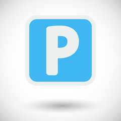 Parking symbol.