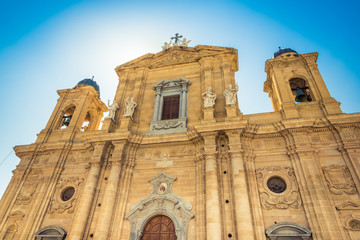 The Cathedral of Marsala, the main square of city,Sicily.