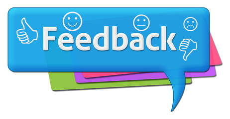 Feedback Colorful Comment Symbols