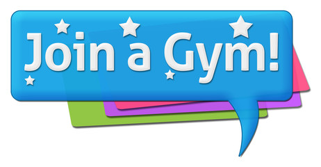 Join A Gym Colorful Comment Symbol