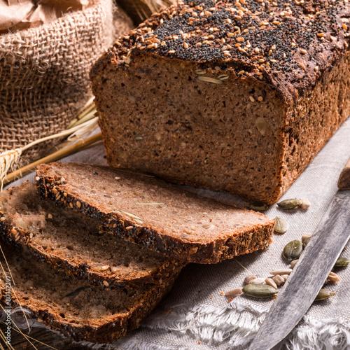 Fotobehang Brood homemade whole wheat bread