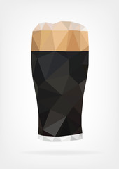 Low Poly Glass of Beer