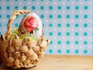 Easter eggs handmade eggs on willow