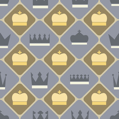 Seamless background with different crowns