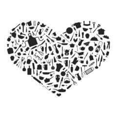 Herz aus Silhouetten