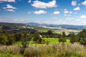 Beautiful summer mountain landscape in the Czech Republic