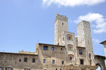 Main square of San Gimignano, Italy