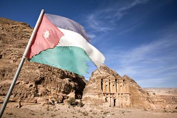 Jordan flag at Petra