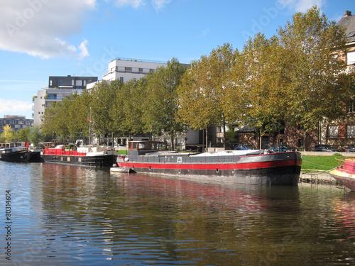 Papiers peints Riviere Barge on the Vilaine