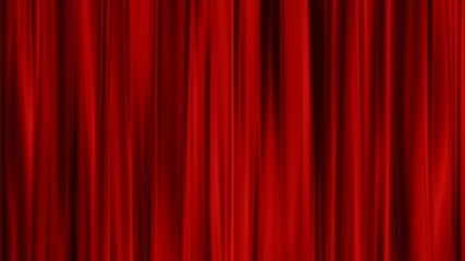 Red Curtains open, alpha channel 4K