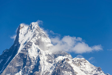 The Machapuchare in Nepal